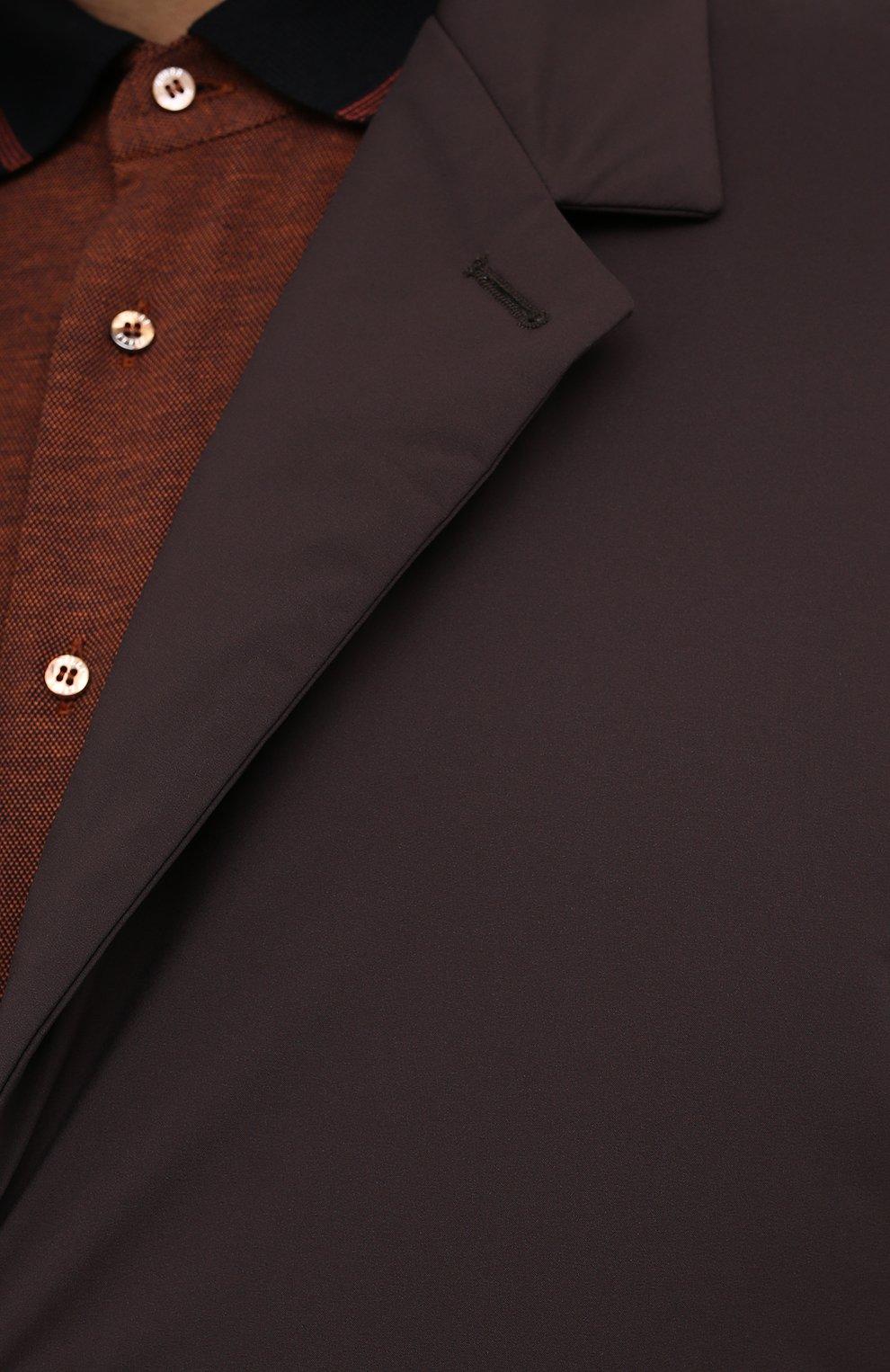 Мужской пуховый плащ KIRED коричневого цвета, арт. WPELM0LW6806527000/62-72 | Фото 5