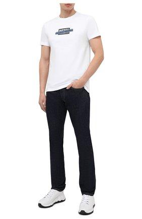 Мужские джинсы RRL темно-синего цвета, арт. 782504838/001 | Фото 2
