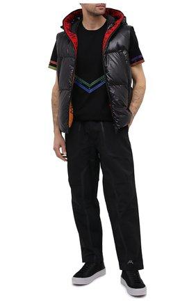 Мужские текстильные кеды HUGO черного цвета, арт. 50433589 | Фото 2
