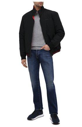 Мужские текстильные кроссовки BOSS синего цвета, арт. 50414734 | Фото 2