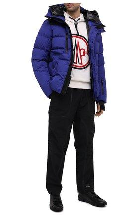 Мужские кожаные кеды HUGO черного цвета, арт. 50440323   Фото 2