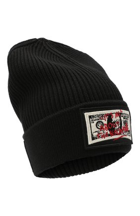 Мужская шапка PHILIPP PLEIN черного цвета, арт. A20A MAC0587 PKN002N | Фото 1