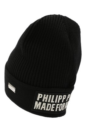 Мужская шапка PHILIPP PLEIN черного цвета, арт. A20A MAC0587 PKN002N | Фото 2