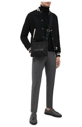 Мужская текстильная сумка PHILIPP PLEIN черного цвета, арт. A20A MBA0999 PLE111N   Фото 2