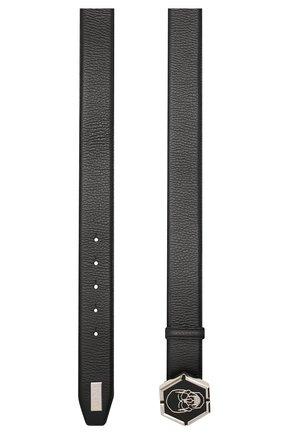 Мужской кожаный ремень PHILIPP PLEIN черного цвета, арт. A20A MVA0611 PLE002N | Фото 2