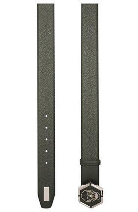 Мужской кожаный ремень PHILIPP PLEIN хаки цвета, арт. A20A MVA0611 PLE002N | Фото 2