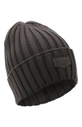 Мужская шерстяная шапка BILLIONAIRE серого цвета, арт. O20A MAC0580 BKN001N | Фото 1