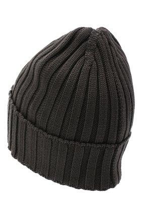 Мужская шерстяная шапка BILLIONAIRE серого цвета, арт. O20A MAC0580 BKN001N | Фото 2