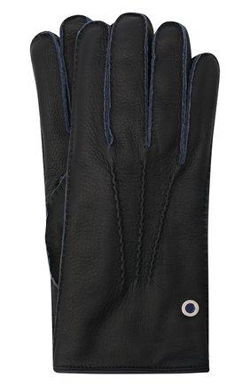 Мужские кожаные перчатки BILLIONAIRE темно-синего цвета, арт. O20A MVB0020 BLE001N | Фото 1
