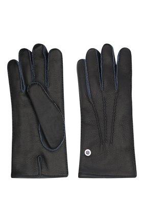Мужские кожаные перчатки BILLIONAIRE темно-синего цвета, арт. O20A MVB0020 BLE001N | Фото 2