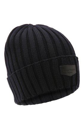 Мужская шерстяная шапка BILLIONAIRE темно-синего цвета, арт. O20A MAC0580 BKN001N | Фото 1