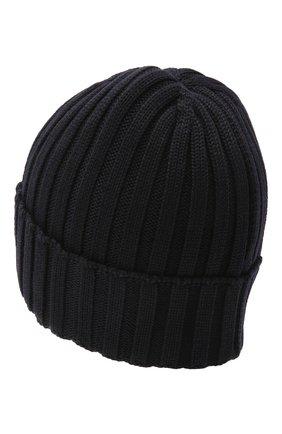 Мужская шерстяная шапка BILLIONAIRE темно-синего цвета, арт. O20A MAC0580 BKN001N | Фото 2