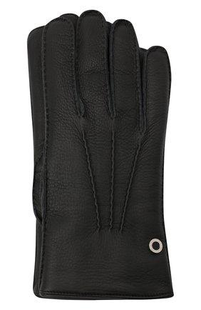 Мужские кожаные перчатки BILLIONAIRE черного цвета, арт. O20A MVB0020 BLE001N | Фото 1