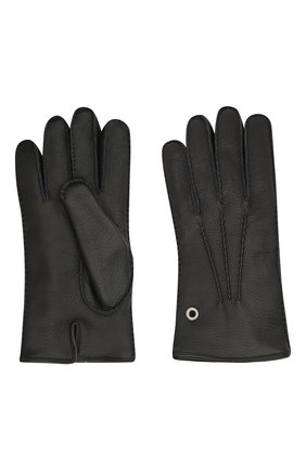 Мужские кожаные перчатки BILLIONAIRE черного цвета, арт. O20A MVB0020 BLE001N | Фото 2