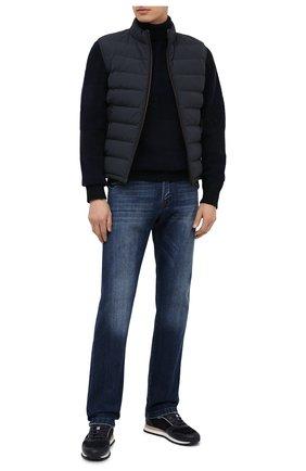 Мужской свитер из кашемира и шерсти ERMENEGILDO ZEGNA темно-синего цвета, арт. UVF50/120   Фото 2