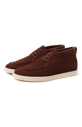 Мужские замшевые ботинки soho LORO PIANA темно-коричневого цвета, арт. FAL2903 | Фото 1