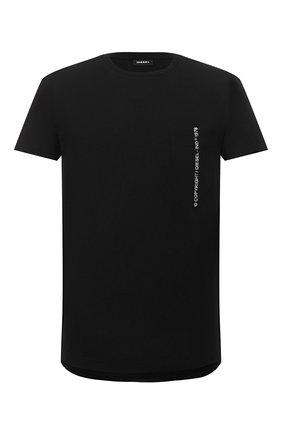 Мужская хлопковая футболка DIESEL черного цвета, арт. 00SASJ/0AAXJ | Фото 1