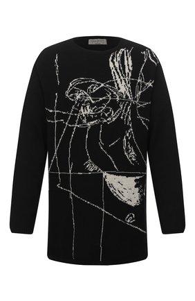 Мужской шерстяной свитер YOHJI YAMAMOTO черно-белого цвета, арт. HR-K10-192   Фото 1