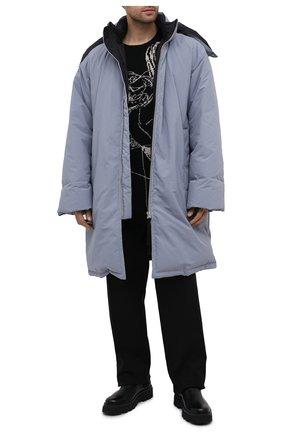 Мужской шерстяной свитер YOHJI YAMAMOTO черно-белого цвета, арт. HR-K10-192   Фото 2