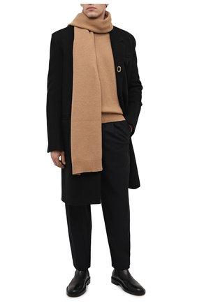 Мужской кашемировый свитер DOLCE & GABBANA бежевого цвета, арт. GXC92T/JAW5N | Фото 2 (Рукава: Длинные; Длина (для топов): Стандартные; Материал внешний: Шерсть; Стили: Кэжуэл; Принт: Без принта)