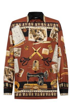 Мужская шелковая рубашка DOLCE & GABBANA разноцветного цвета, арт. G5IB9T/FI13Q | Фото 1
