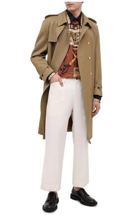 Мужская шелковая рубашка DOLCE & GABBANA разноцветного цвета, арт. G5IB9T/FI13Q | Фото 2