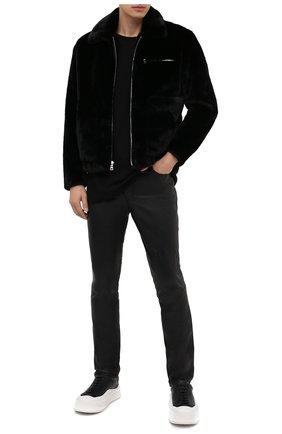 Мужские кожаные брюки RTA черного цвета, арт. MF0LE-1BKSU   Фото 2