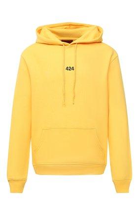 Мужской хлопковое худи 424 желтого цвета, арт. 8008.115.4034   Фото 1