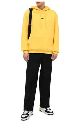 Мужской хлопковое худи 424 желтого цвета, арт. 8008.115.4034   Фото 2