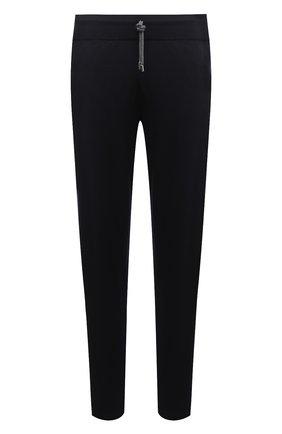 Мужские брюки из шерсти и кашемира FIORONI темно-синего цвета, арт. MK00T0F2 | Фото 1