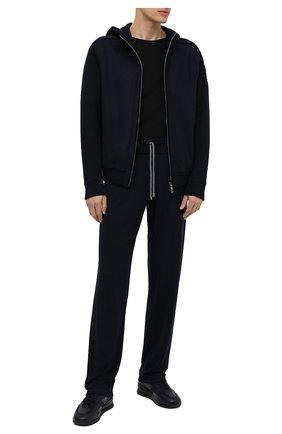 Мужской брюки из шерсти и кашемира FIORONI темно-синего цвета, арт. MK00T0F2 | Фото 2