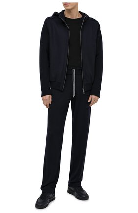 Мужская шерстяной кардиган FIORONI темно-синего цвета, арт. MTX21010E1 | Фото 2