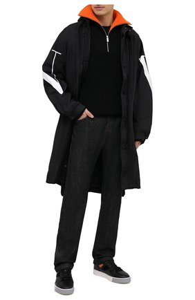 Мужские кожаные кеды SANTONI черного цвета, арт. MBAL21376GCPGMS0N55 | Фото 2
