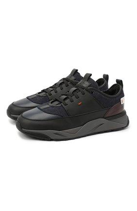 Мужские комбинированные кроссовки SANTONI темно-синего цвета, арт. MBI021425ANEPSDKU60 | Фото 1