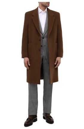 Мужские кожаные монки SANTONI темно-коричневого цвета, арт. MCBN17125PW5HSYCT60 | Фото 2