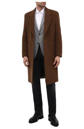 Мужские кожаные оксфорды SANTONI черного цвета, арт. MCBN17158PW5ASYCN01 | Фото 2