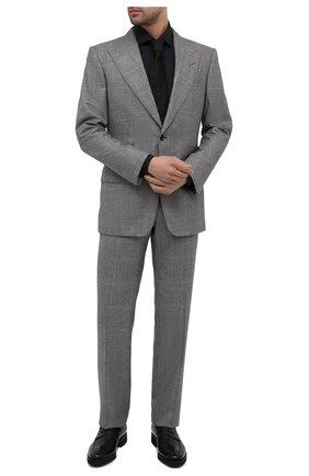 Мужские кожаные пенни-лоферы SANTONI черного цвета, арт. MCBN17443PW5HSYCN01 | Фото 2