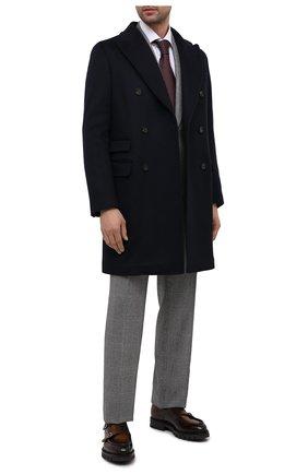 Мужские кожаные монки SANTONI коричневого цвета, арт. MCC016201ML6HNGCT30 | Фото 2