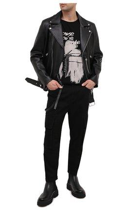 Мужские джинсы HELMUT LANG черного цвета, арт. K06DM211 | Фото 2