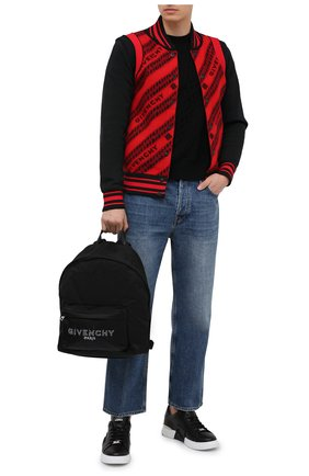 Мужской текстильный рюкзак GIVENCHY черно-белого цвета, арт. BK500JK10B | Фото 2