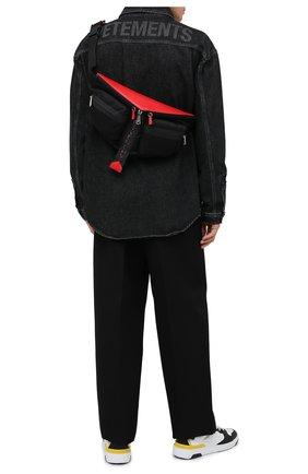 Мужская текстильная поясная сумка GIVENCHY черного цвета, арт. BKU00LK100   Фото 2