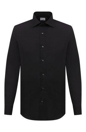 Мужская хлопковая сорочка BAGUTTA черного цвета, арт. MIAMI_EL/00672 | Фото 1