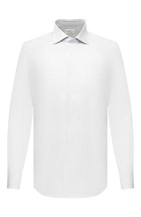 Мужская хлопковая сорочка BAGUTTA белого цвета, арт. MIAMI_EL/00672 | Фото 1