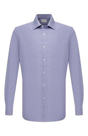 Мужская хлопковая сорочка BAGUTTA синего цвета, арт. 450_EBL/09880 | Фото 1