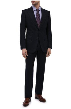 Мужская хлопковая сорочка BAGUTTA синего цвета, арт. 450_EBL/09880 | Фото 2