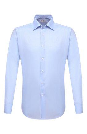 Мужская хлопковая сорочка BAGUTTA голубого цвета, арт. 450_EBL/07773 | Фото 1