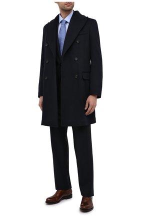 Мужская хлопковая сорочка BAGUTTA голубого цвета, арт. 450_EBL/07773 | Фото 2