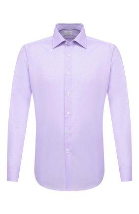 Мужская хлопковая сорочка BAGUTTA сиреневого цвета, арт. 450_EBL/07773 | Фото 1