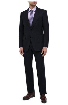 Мужская хлопковая сорочка BAGUTTA сиреневого цвета, арт. 450_EBL/07773 | Фото 2