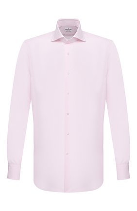 Мужская хлопковая сорочка BAGUTTA розового цвета, арт. 386_EBL/00170 | Фото 1